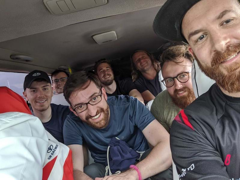Novicell crammed in a taxi